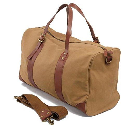 ZC&J Geeignet für Männer und Frauen Leinwand Handtaschen, Schulter diagonal Freizeit Reise Gepäck Tasche 29L große Kapazität Reisebeutel A