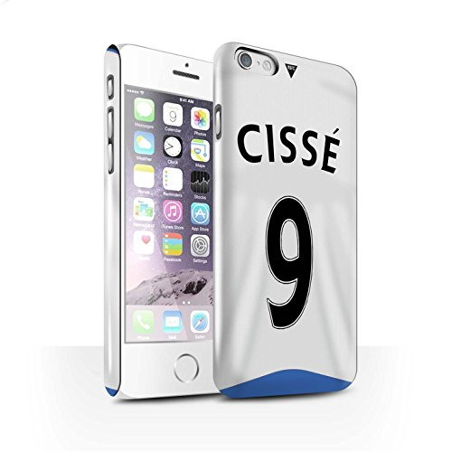 Offiziell Newcastle United FC Hülle / Glanz Snap-On Case für Apple iPhone 6S / Pack 29pcs Muster / NUFC Trikot Home 15/16 Kollektion Cissé
