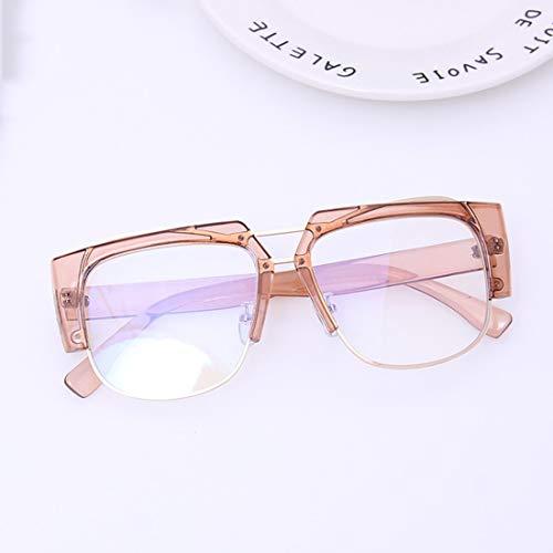 Shiduoli Brillen ohne Brillen Mode Brillen Unisex Stilvolle Brillengestelle für Damen und Herren (Color : Pink)