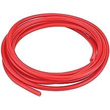 Qiilu Universal Coche 4mm 5 metros Manguera de tubo de silicona Aspiradora de silicona (rojo