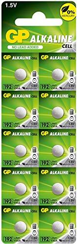 GP Batterien Alkaline Knopfzellen192F-2C10 1,5V (LR41 / 192 / V3GA) 10 Stück