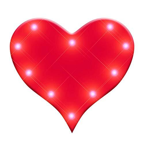 MODEOR Rotes Herz blinkende Karosserie-Licht-Revers-Pins von Blinkee