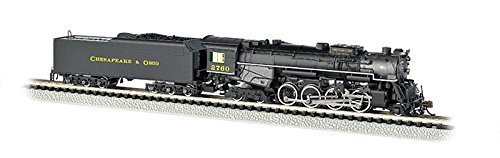 Bachmann Industries C&O Kanawha #2760 N Scale 2-8-4 Berkshire Steam Locomotive & Tender by Bachmann Trains