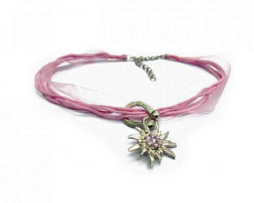 Dirndlkette Edelweiss - rosa