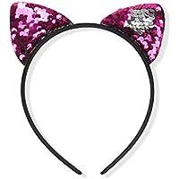 Leisial Banda de Pelo Fiesta Diadema Forma de Orejas de Gato Lentejuelas para Niñas Mujeres para Decoración Accesorios Peinado 14 * 6cm (Color - 8)