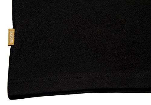 Chabos IIVII Herren Oberteile/T-Shirt College Schwarz