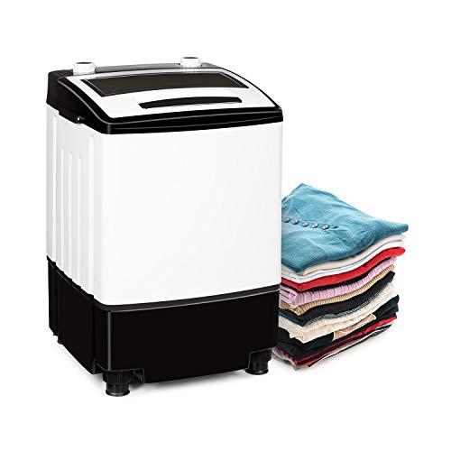 Klarstein Bubble Boost Waschmaschine, Leistung: 380 Watt, Waschen: 3,5kg, Schleudern: 1kg, Wäsche-Timer: 0-10 Minuten, Schleuder-Timer: 0-5 Minuten, schwarz