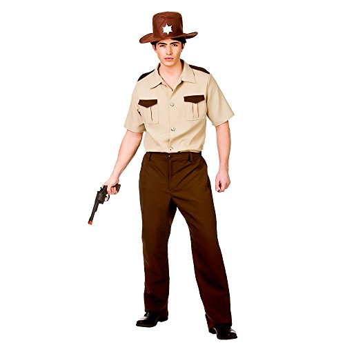 US Sheriff The Walking Dead Rick Grimes Zombie Hunter Fancy Dress Costume Halloween Outfit (Men: Small)