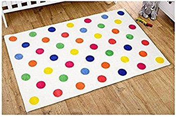 Kit for kids tappeto unisex, multicolore, a pois