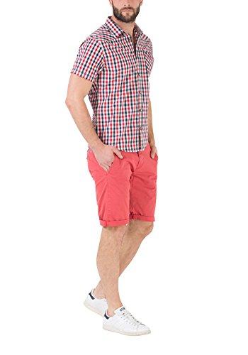 Timezone Herren Freizeithemd Donny Shirt Shortsleeve Mehrfarbig (Blue Red Vichy 5046)