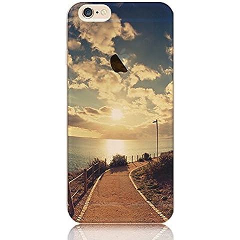 Funda iPhone 6 Sunroyal Transparente Silicona Suave TPU Parachoques Bumper Ultra Delgada Carcasa Flexible [Choque Tecnología Absorción][Conviviente tapón Antipolvo] para Apple iPhone 6 / 6S 4.7
