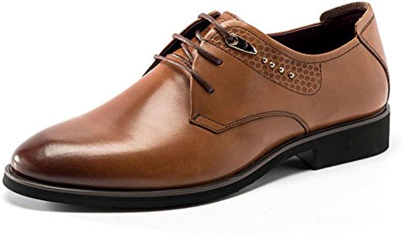 Scarpe da uomo, uomini inglesi di di di scarpe a punta, cuoio lace scarpe,Marronee,42 | Sensazione piacevole  | Scolaro/Ragazze Scarpa  645ee5