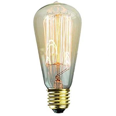 Vintage Squirrel Cage Edison Lightbulb 240v 60w E27 Screw - Swan Lighting