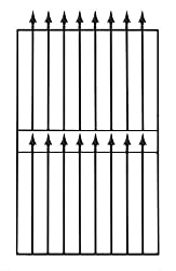 Spear Top Tall Garden Gate fits 940mm to 1000mm GAP x 1830mm High wrought iron metal swing gates BST2