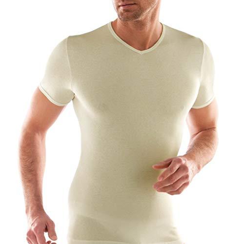 Liabel 3 t shirt uomo mezza manica scollo V lana e cotone art. 5810/E53