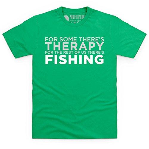 Fishing Therapy T-Shirt, Herren Keltisch-Grn