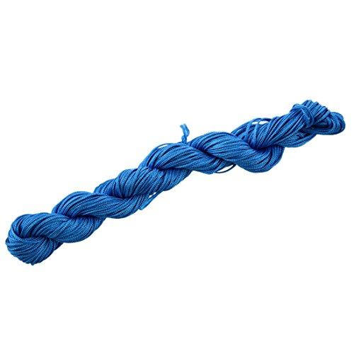 TOOGOO(R) 25 Metres Fil Nylon Cordon Bijoux 1 mm pour (Bleu Lagon)