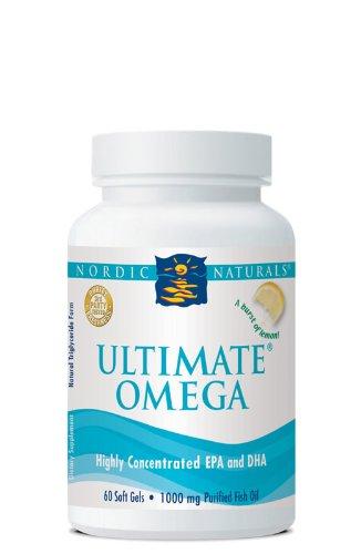 Nordic Naturals, Ultimate Omega, Zitronen Geschmack, 1280mg, 60 Weichkapseln | Gentechnikfrei | Molekular distilliert | Garantierte Reinheit | Kein fischiger Nachgeschmack