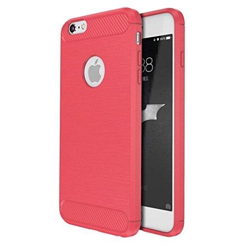 Custodia Armor con Copertura Morbida di Silicone case cover per iPhone 7 Plus 5.5 (red) red