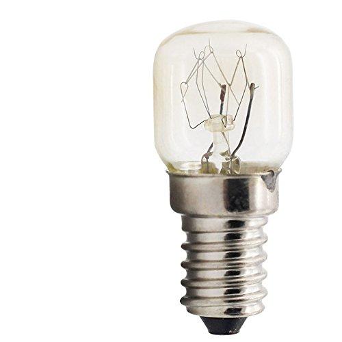 DSstyles 220 V E14 Bombillas de microondas para Horno, luz de Sal, 300 Grados, Resistente a Altas temperaturas