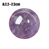 TUANMEIFADONGJI Natural Amethyst Ball unique Crystal Ball Raw Gemstone Polished Crafted Fashion Gifts Magic Purple Quartz Stone Ball Crystal Home Decoration collection