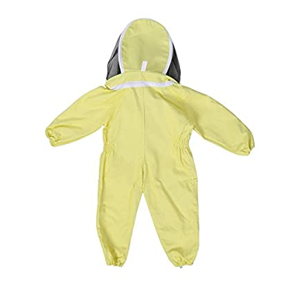 Zerodis Beekeeping Suit with Veil Protective Bee Suit for Kids,Professional Beekeeping Jumpsuit Bee Visitor Cotton Long Sleeve Children Protection Bee Keeping Supplies(M) 2
