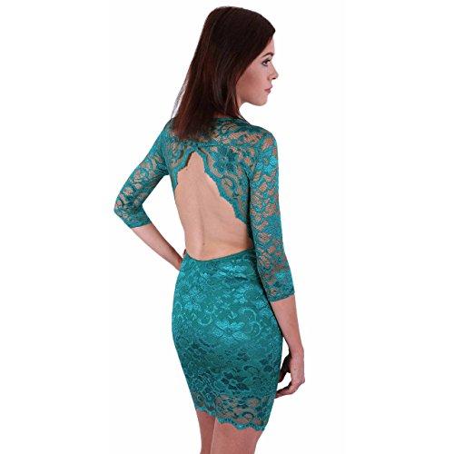 ASOS el vestido verde oscuro sin espalda - 40