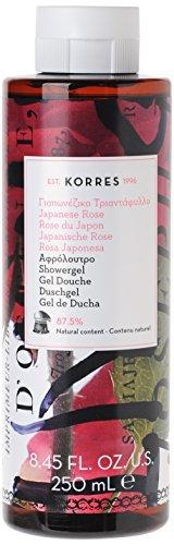 Korres Japanese Rose Duschgel, 1er Pack (1 x 250 ml) - Gel Duftenden Body Lotion