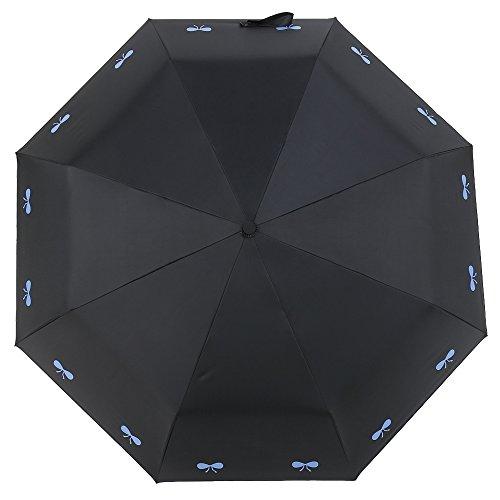 NectaRoy Regenschirm Kreativ Bogenmuster Oder Sonnenschein UV Damen Sonne Sonnenschirm, Anti-UV Wasserdicht Sunny und Rain Dual-Einsatz