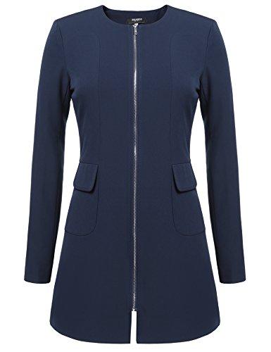 Zeagoo -  cappotto - maniche lunghe - donna dunkelblau xl