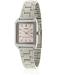 CASIO LTP-V007D-4 - Reloj con movimiento cuarzo japonés, para mujer, color rosa y plateado