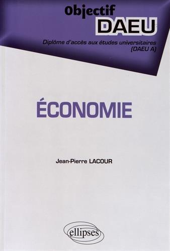 ÉCONOMIE - DAEU A par Jean-Pierre Lacour