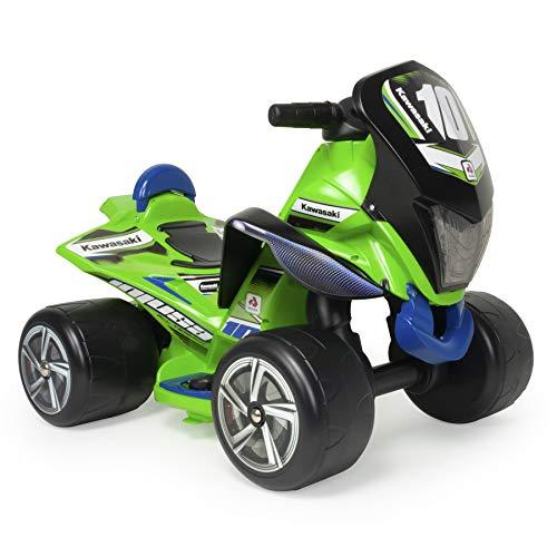 INJUSA Quad Kind Batterie 6V grün Kawasaki für Kinder 1 bis 3 Jahre (Kawasaki Quad 6v)