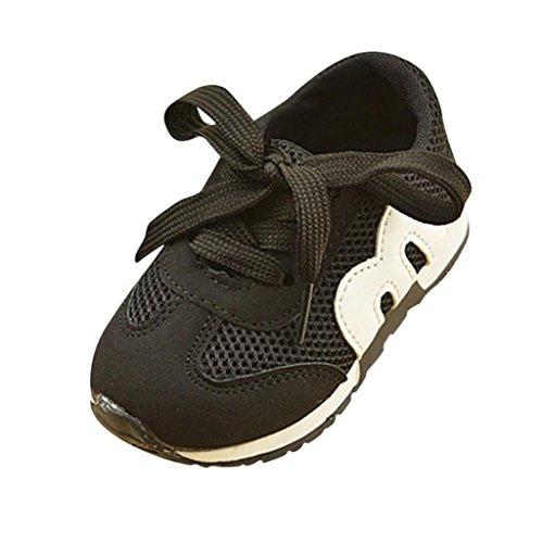Unisex Mesh Hohl Sneaker Kleinkind Kinder, DoraMe Baby Jungen Mädchen Atmungsaktive Turnschuhe Flache Loafers Sport Schuhe Läuft Weich Boden Schuhe für 1-6 Jahr (2-2.5 Jahr/Size(CN):23, Schwarz) (Schwarz Wolle Michael Kors)