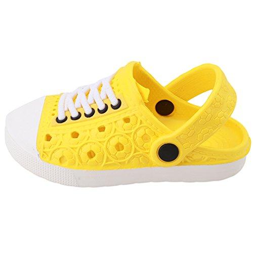 Lalang Kinder Hausschuhe Clogs in versch Größen EVA-Clog Unisex Kinder Sandalen (31, Gelb)