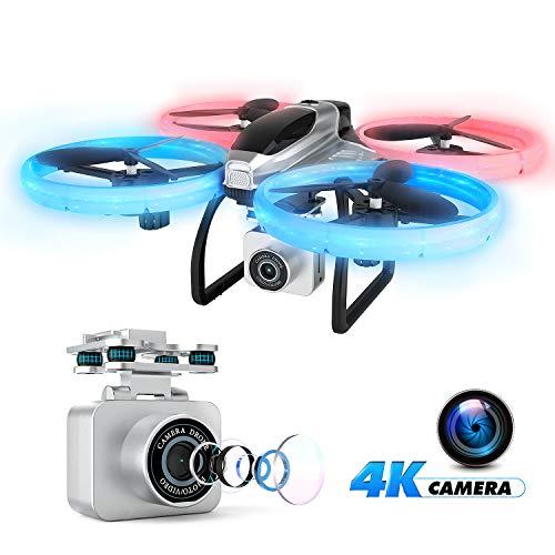 EACHINE E020 Drone avec caméra 4k HD WiFi FPV Grand Angle Objectif, Hélicoptère télécommandé Facile à diriger
