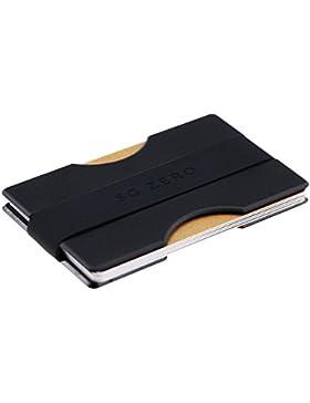 Billetera Minimalista Delgada Hecha para Guardar de 4 a 12 Tarjetas de crédito