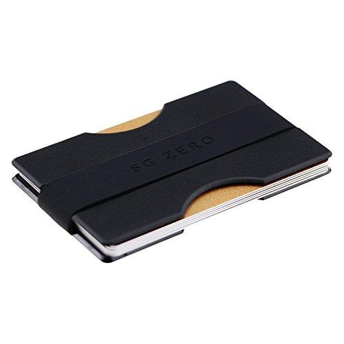 Kompaktes Kredit-Kartenetui aus stabilem Polycarbonat für 4 bis 12 Karten - Portemannaie mit Geldklammer - minimalistische Geldbörse, Brieftasche und Geldbeutel für Damen und Herren (Credit Geldbörse)