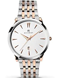 Accurist Mens Rose Gold Plated Bracelet Watch 7075