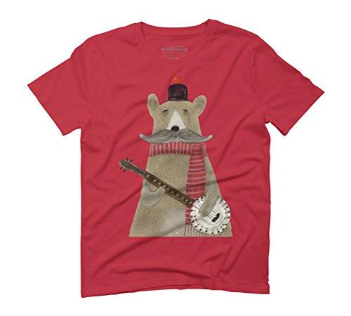 Design By Humans  Herren T-Shirt Rot