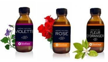 Set 3Aromen natürlichen Blumen: Rose-Veilchen-Orangenblüte