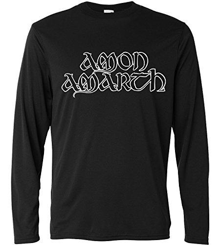 T-shirt a manica lunga Uomo - Amon Amarth White Print - Long Sleeve 100% cotone LaMAGLIERIA, S, Nero