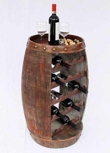 Weinregal Weinfass 0370-R Fass aus Holz - 8
