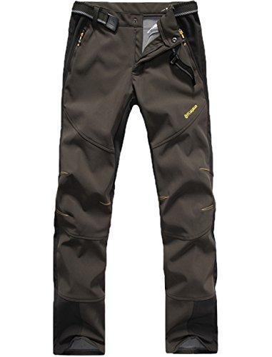 Lakaka Herren Trekkinghose Warm Softshell Fleece Lang Wasserdicht Schnelltrocknen Camping Wandern Trekking Hosen
