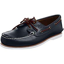Timberland Classic 2 Eye, Men's Boat Shoes Blue (MD Full Blue Grain) 9.5 UK