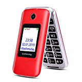 Ushining Prime Mobile Flip Phone Feature Phone Dual Screen Red 3G Unlocked Senior