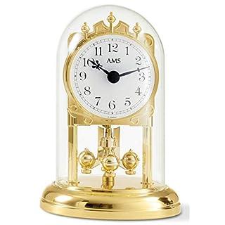 AMS Uhrenfabrik Clock, Silver, 15 x 10 x 5.5 cm