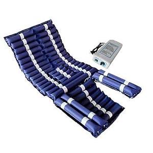 WLIXZ Abwechselnde Druckmatratze, zur Vorbeugung von Geschwürbett und zur Behandlung von Druckstellen, einschließlich Pumpe