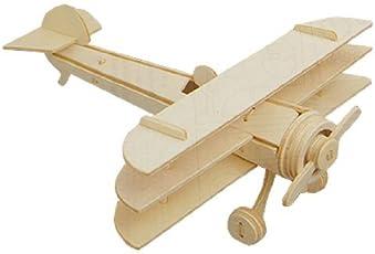 Dcolor Aereo Triplano Modello 3D in legno Sopwith costruzione kit giocattolo regalo di puzzle