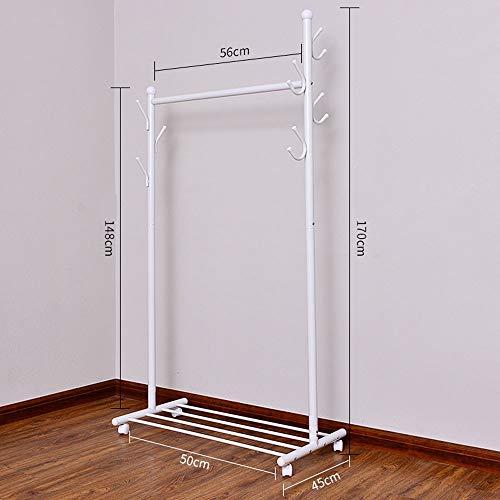 XXJZ Trockengestelle Trocknungsgestelle Hängende Kleidung Stock Home Single Pole Balkonrahmen Einfache Mobile Schlafzimmer Folding Room Built-in Lagerung Coole Aufhänger